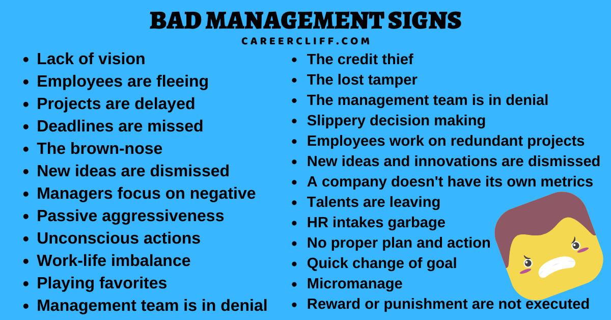 bad management signs signs of a bad boss warning signs of a bad boss signs you have a bad boss signs of a bad supervisor signs you have a terrible boss signs of a toxic workplace signs of a toxic work environment signs your job is toxic 10 signs of a toxic workplace signs your workplace is toxic signs of a bad work environment my job is toxic 13 signs of a toxic workplace signs of toxic work culture signs toxic workplace signs you work in a toxic environment signs of a toxic job signs of unhealthy work environment toxic job signs signs of a toxic environment signs your work environment is toxic signs of bad work environment signs you work in a toxic workplace signs you are in a toxic work environment signs that your job is toxic signs that your workplace is toxic signs of an abusive work environment