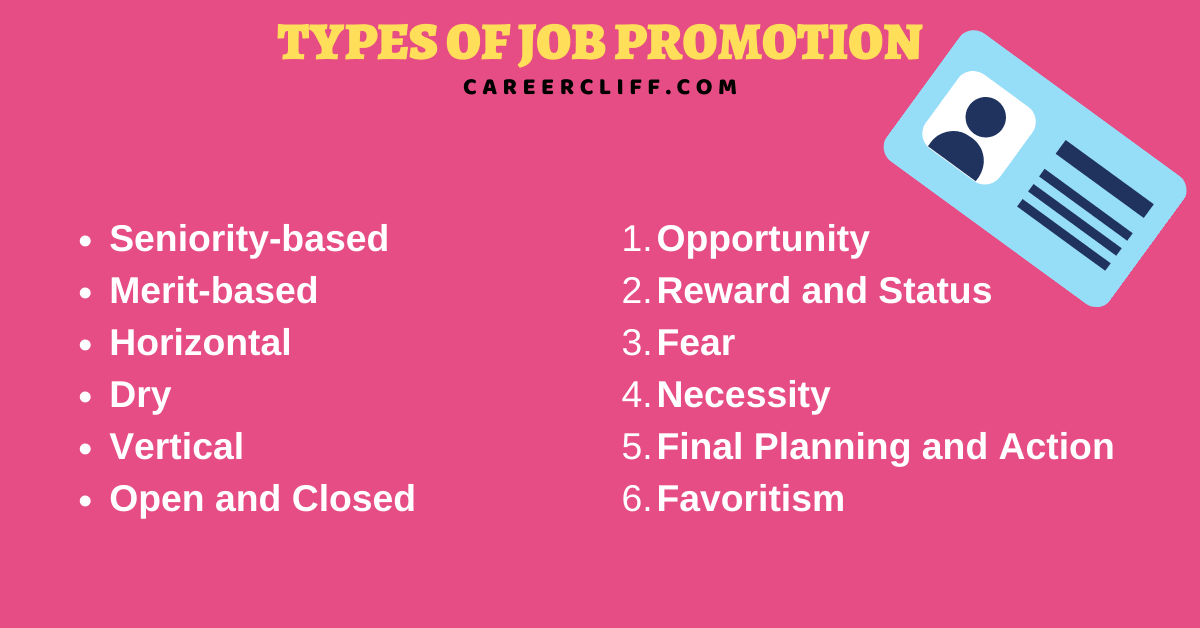 types of job promotion types of employee promotion