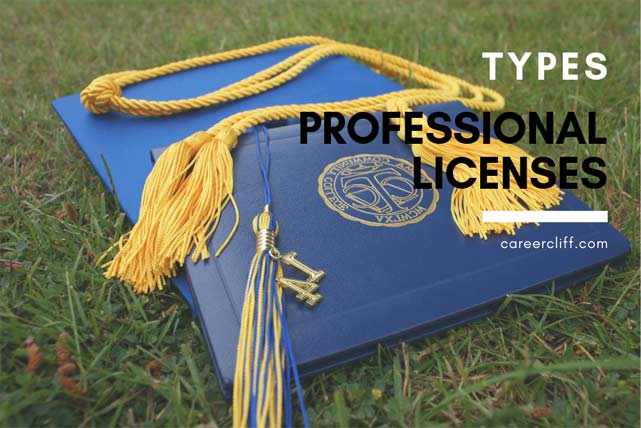 types of professional licenses