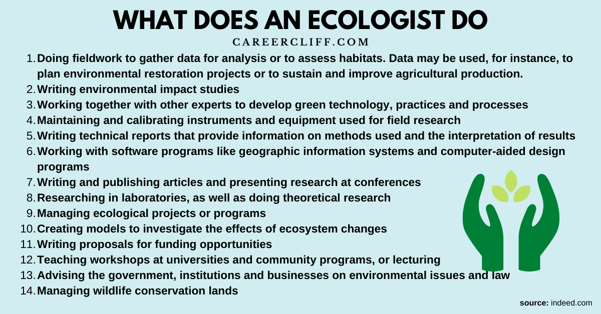 what is an ecologist what does an ecologist do what do ecologist do what does an ecologist do on a day to day basis what is an ecologist do what is ecologist do