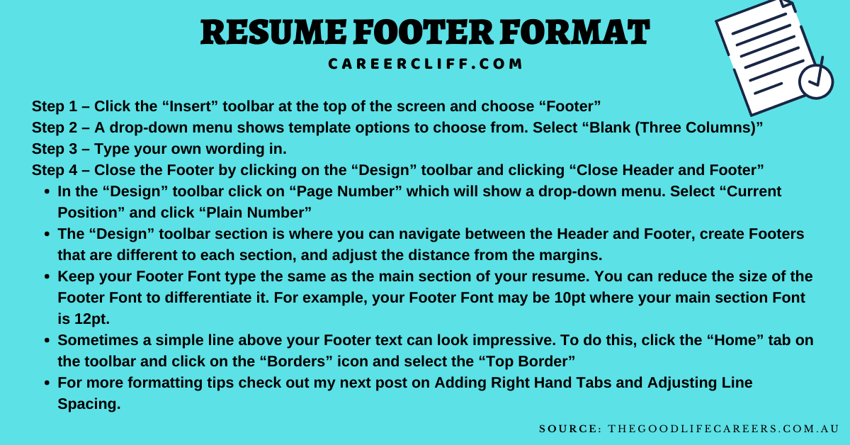 resume footer cv footer resume footer examples 2 page resume footer resume header and footer