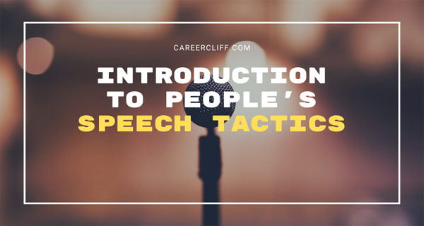 Introduction to People's Speech Tactics