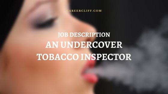 Undercover Tobacco Inspector Job Description