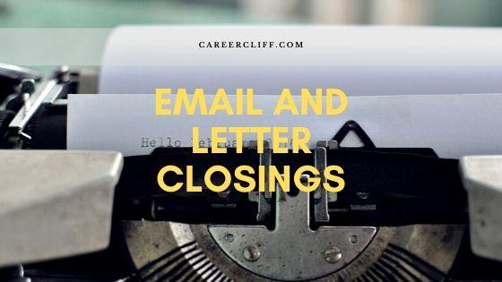 letter sign offs
