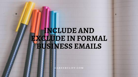 Sending a Formal Email