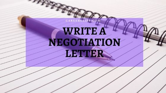 write a negotiation letter