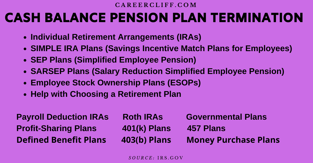 cash balance pension plan termination cash balance plan termination
