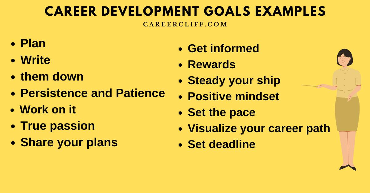 career development goals examples