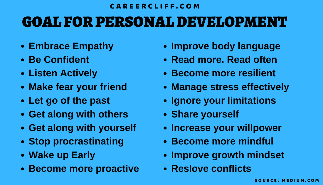 goal for personal development
