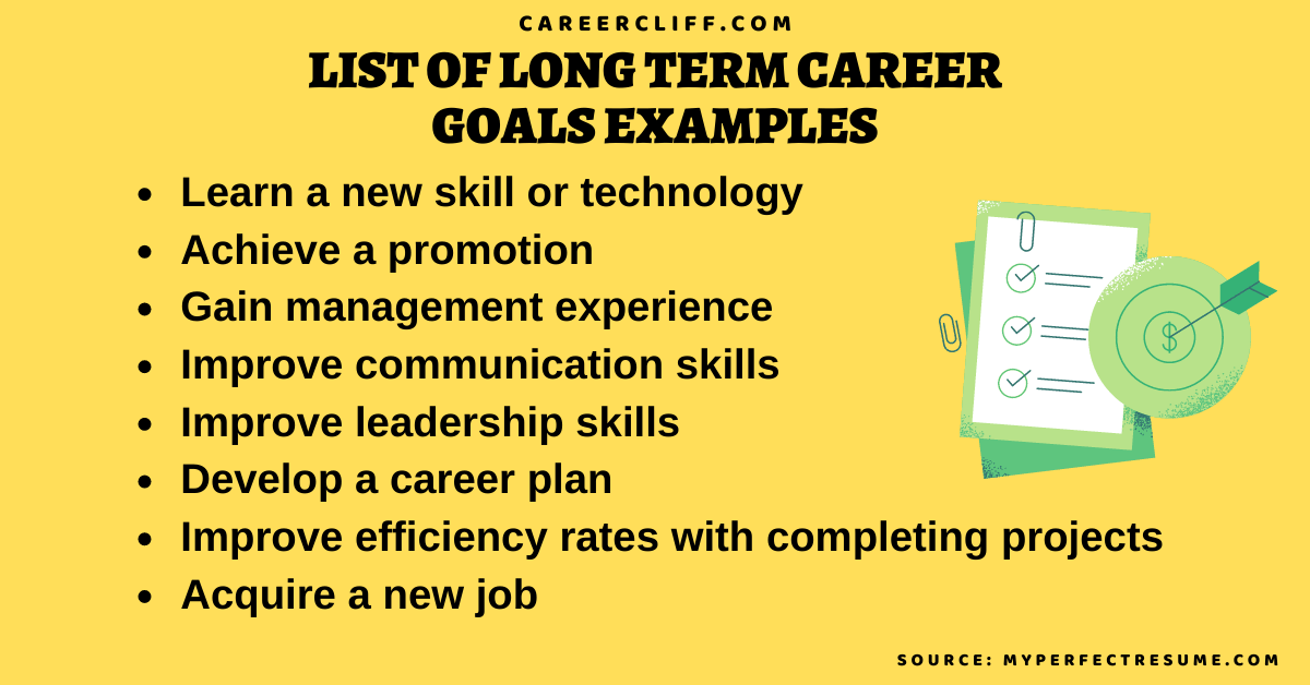 list of long term career goals examples list of long term career goals examples list of short term career goals examples list of short term goals examples for work list of long term goals examples for work